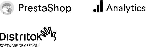 Logotipos Prestashop, Analytics, Distrito K