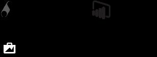 Logotipos google ads, power bi, facebook business manager, analytics